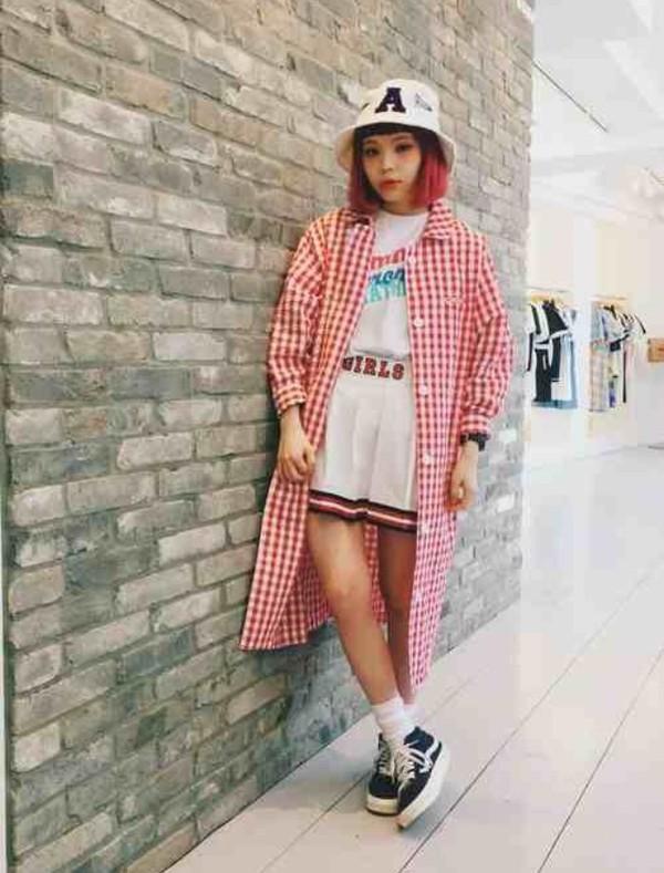 Skirt White Kawaii Kawaii Grunge Kawaii Japanese Japan Japanese Fashion Plaid Hat