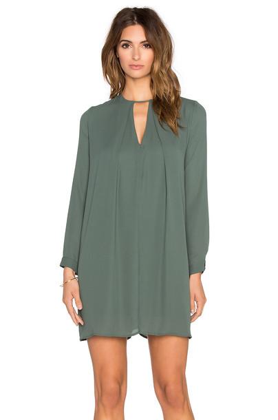 dress swing dress long green