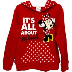 Girls Hoodie It's All About Minnie, Red - Fleece - Disney Girls
