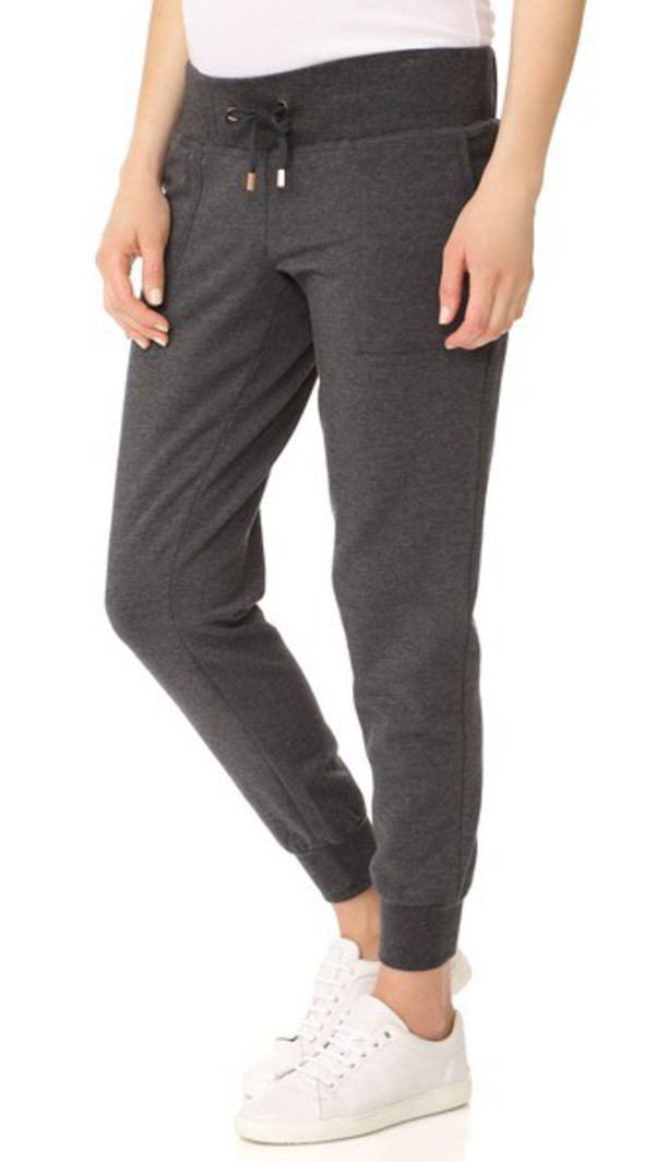 Ingrid & Isabel Active Jogger Maternity Leggings in charcoal