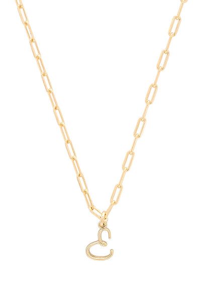 joolz by Martha Calvo E Initial Necklace in gold / metallic