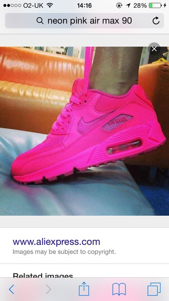 shoes nike air max neon pink