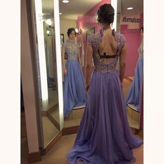 prom dress purple dress gown