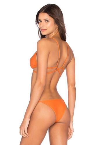 bikini bikini top orange