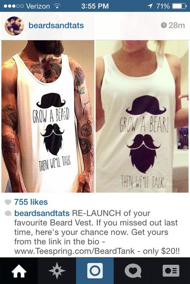 tank top beard vest