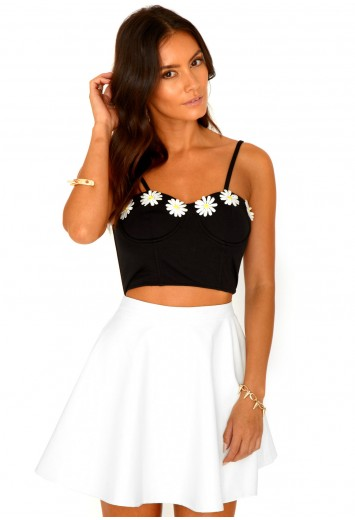 Naddie Daisy Detail Bralet - top - crop tops - missguided