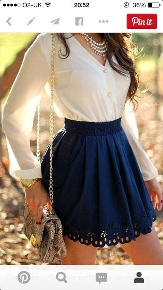 skirt navy skater skirt summer outfits floral skirt