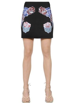 skirt mini skirt mini embroidered black