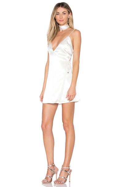by the way. dress wrap dress satin cream