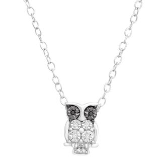 jewels tiny pendant owl pendant sterling silver necklace silver pendant swarovski swarovski necklace
