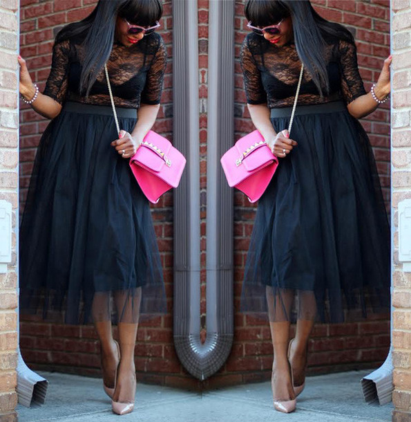 blouse lace Valentino louboutin maxi skirt all black everything