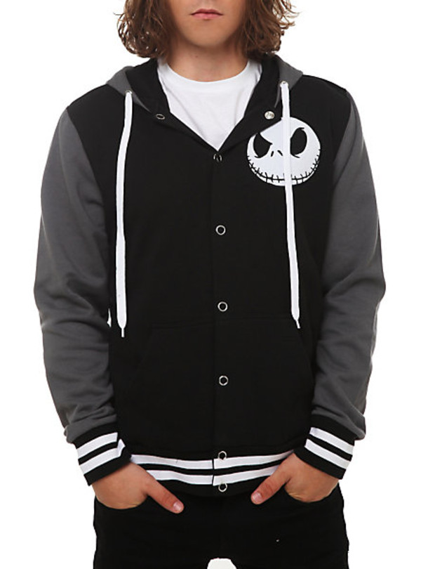 The Nightmare Before Christmas Jack Varsity Hoodie | Hot Topic