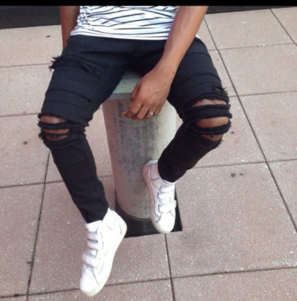 Black Mens Ripped Jeans - Shop for Black Mens Ripped Jeans on ...