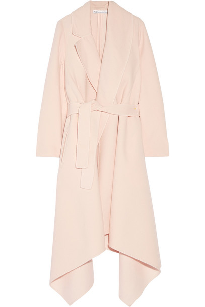 coat wool pastel pink pastel pink