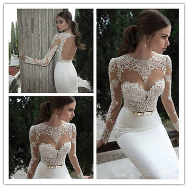 white lace prom dresses 2014 | Gommap Blog