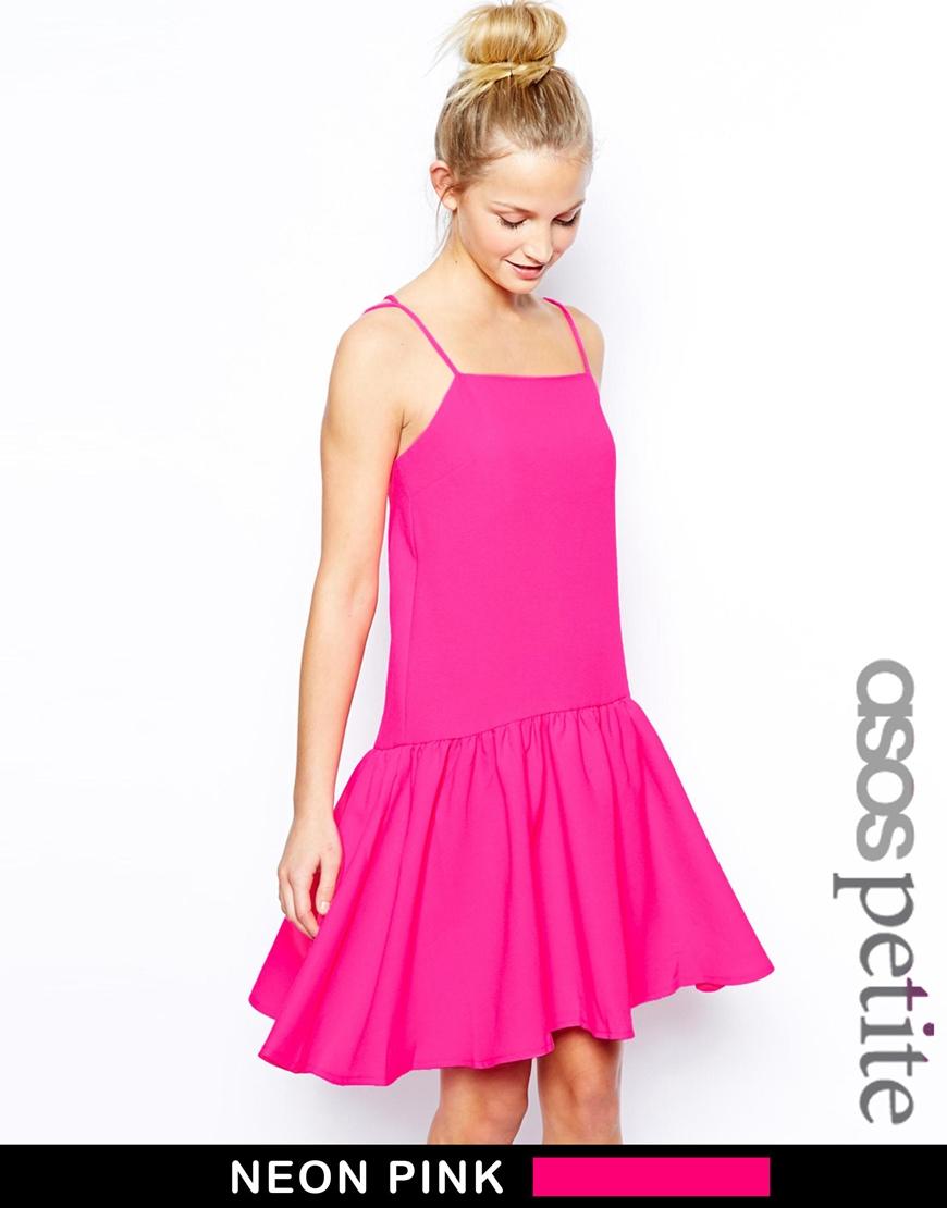 ASOS PETITE Peplum Hem Strappy Dress at asos.com