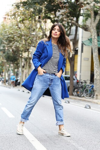 dulceida blogger coat shirt jeans shoes