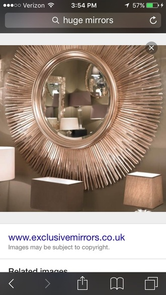 home accessory mirror classy rose gold