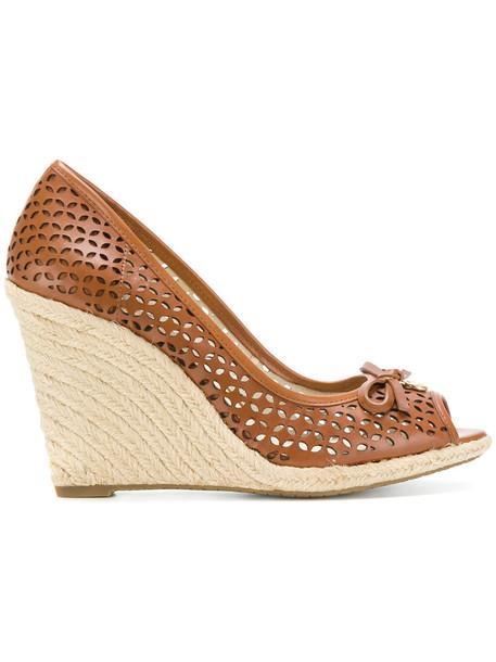 MICHAEL Michael Kors women sandals wedge sandals leather brown shoes