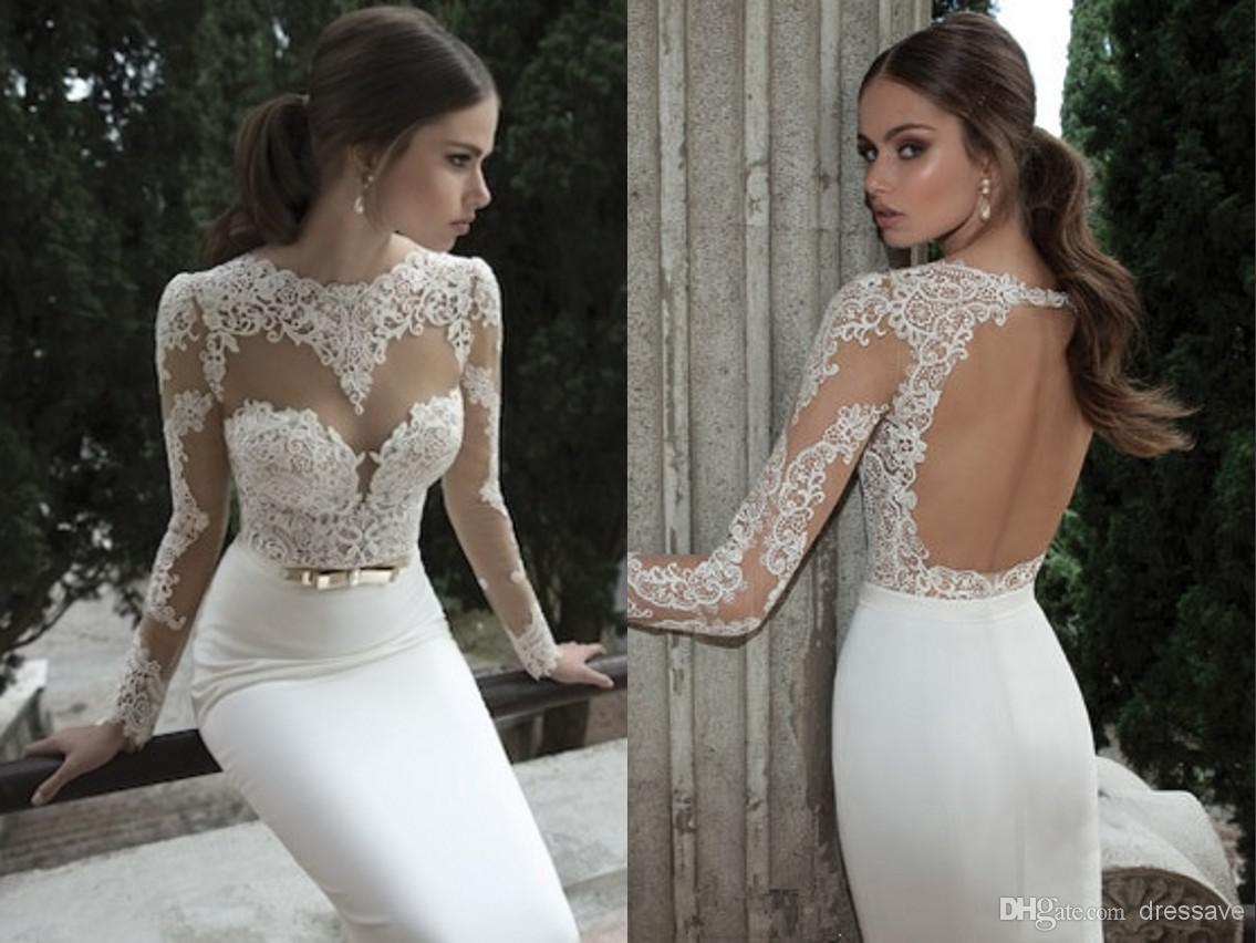 2014 Sexy Vestido De Noiva Wedding Dresses Bateau Sheath Wedding Dresses | Buy Wholesale On Line Direct from China