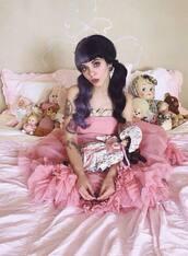 dress,pity party,music video,melanie martinez,pink dress,pastel pink,pastel pink dress