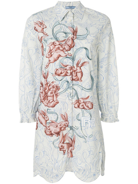 Prada shirt women nude cotton print top