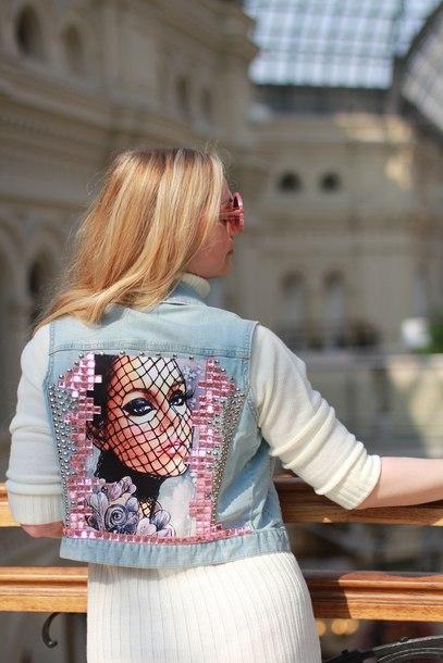 jacket pop art denim jacket