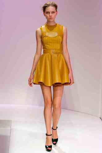 dress fit and flare fit and flare dress yellow dress