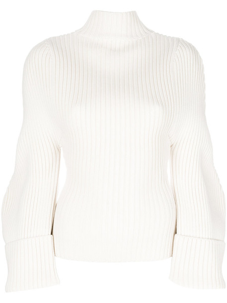 Jacquemus top women nude wool