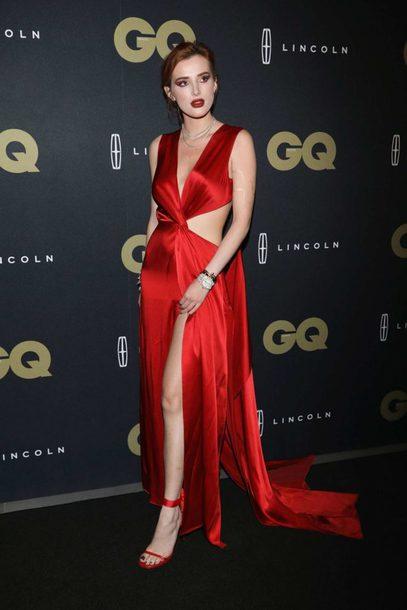 dress red dress red slit dress gown prom dress maxi dress bella thorne