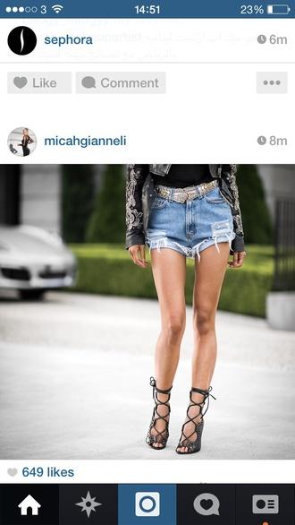 shoes heels sandals black leather sandals
