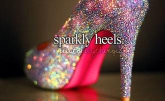 shoes high heels pink high heels sparkle sparkley colorful pink gems gem stones