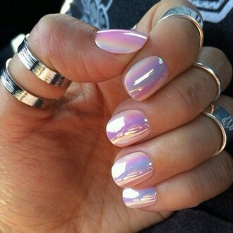 nail polish jewels jumpsuit holographic ring silver knuckle ring