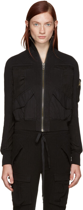 jacket bomber jacket black