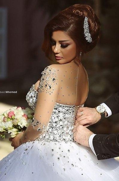 robes de mariée robes de mariée Lace up retour cristal de luxe ...
