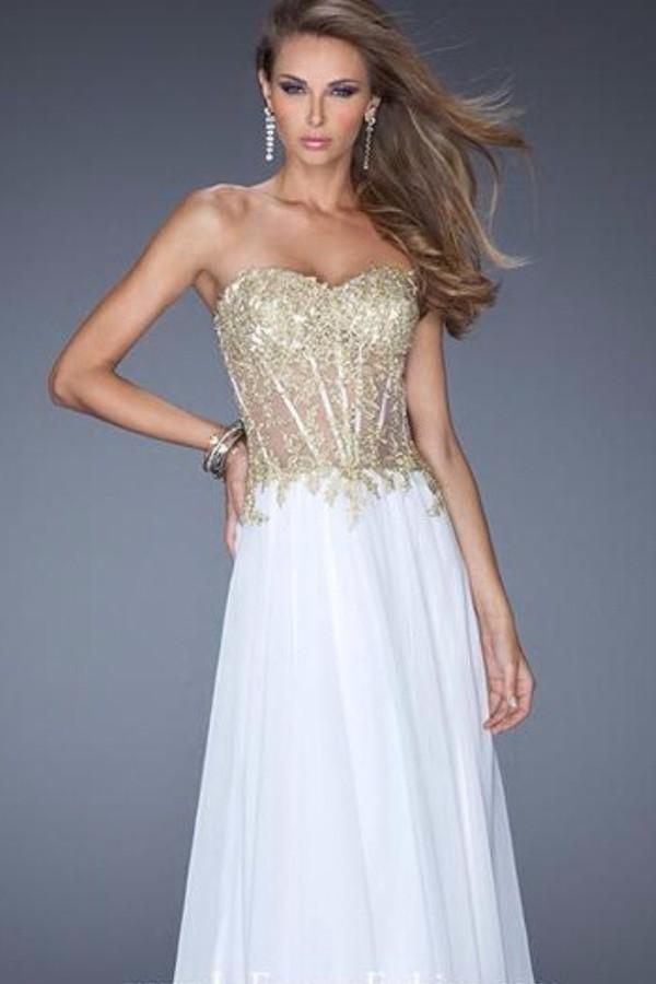 dress prom dress white beautiful pretty