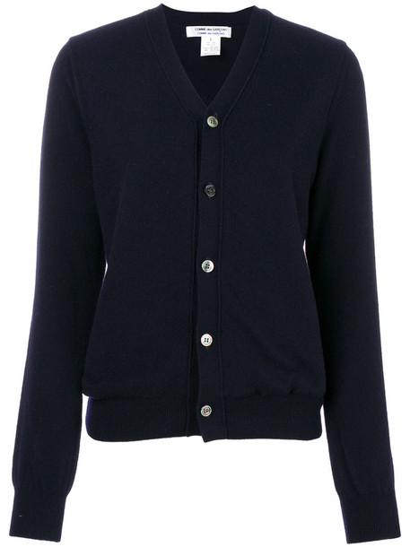 Comme des Garçons Comme des Garçons cardigan cardigan women classic blue wool sweater