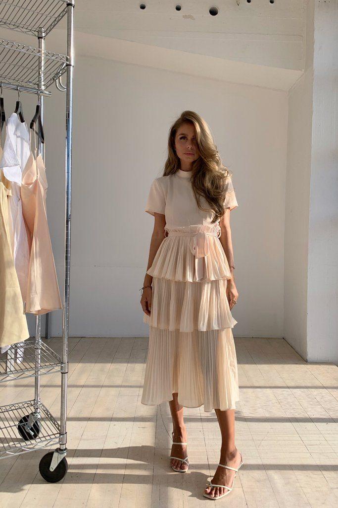 PARIS DRESS - NUDE