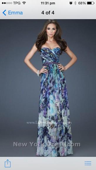 pattern purple bridesmaid maxi dress colourful