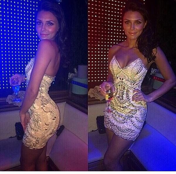 dress strapless dress fashion elegant studded dresses sequin dress cocktail dress