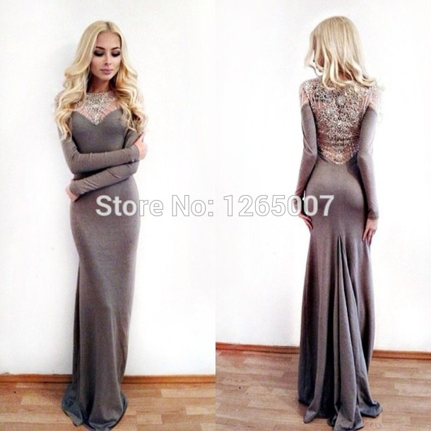 Arabian Dress Round O Neck Long Sleeves Heavy Beaded Nice Pattern Back Mermaid Fashion Evening Dresses-in Evening Dresses from Apparel & Accessories on Aliexpress.com | Alibaba Group