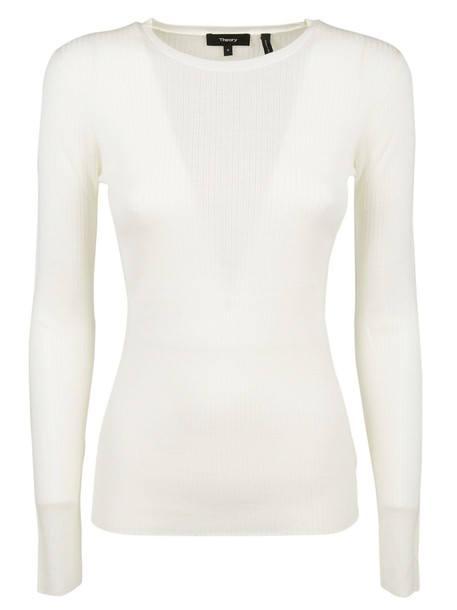 Theory Knitted Sweater in ivory