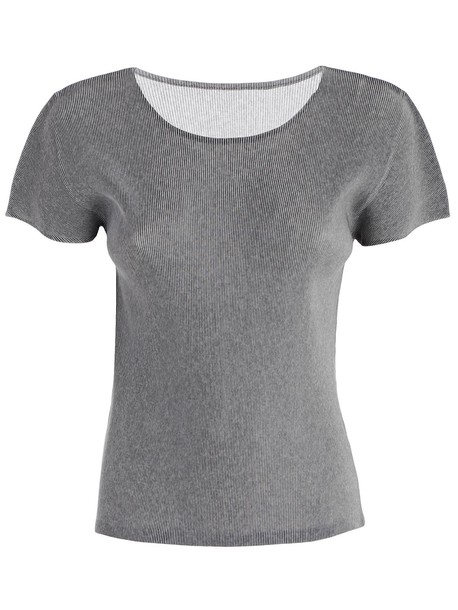 PLEATS PLEASE ISSEY MIYAKE shirt light grey top