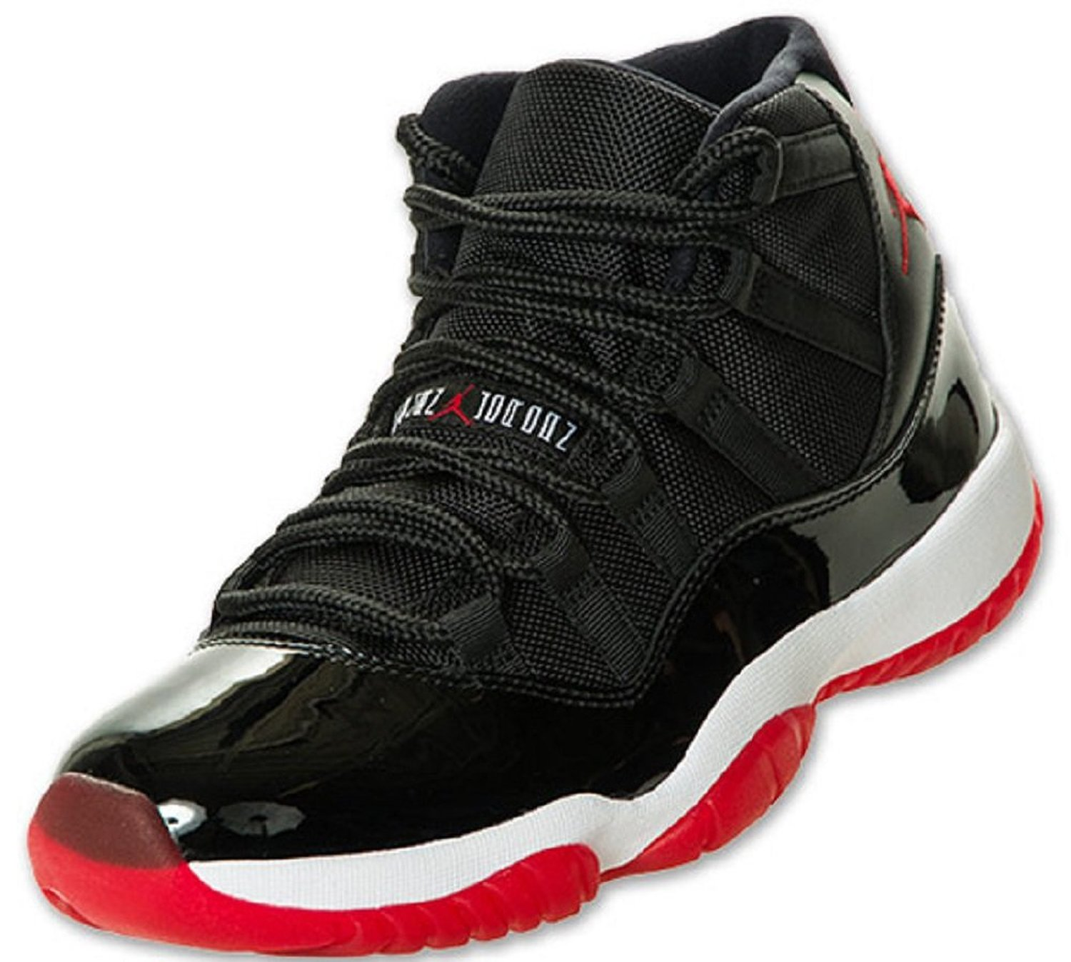 Amazon.com: Mens Nike Air Jordan 11 XI Retro BRED Basketball Shoes Black / White / Varsity Red 378037-010: Shoes