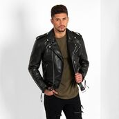 jacket,maniere de voir,classic,leather,biker,layered,36683