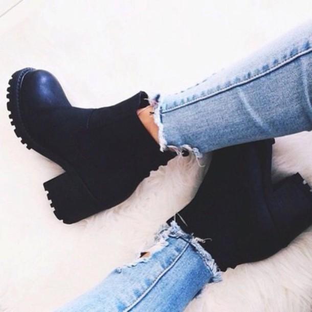 shoes black boots black boots