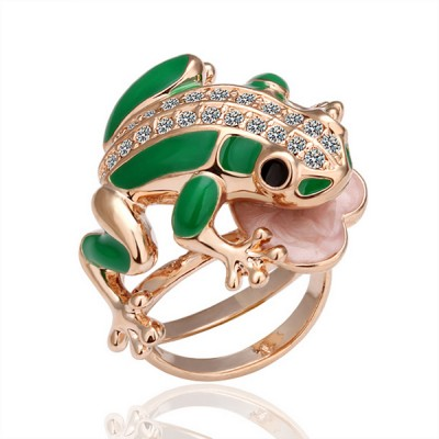 18K Cute little frog ring for US$15.85 in 18K Gold Ring - AEKK