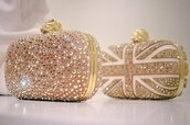 bag,england,sequins,white,gold,clutch,crystal,diamonds,skull,rhinestones