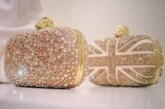 bag england sequins white gold clutch crystal diamonds skull rhinestones