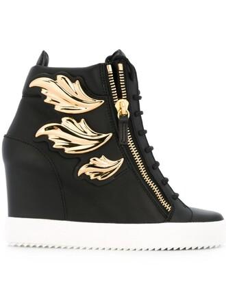 sneakers wedge sneakers black shoes